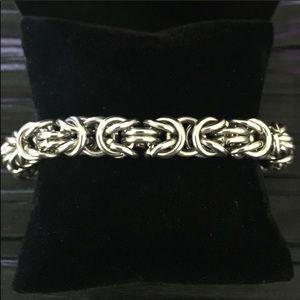 "10"" Byzantine Stainless Steel Bracelet Unisex"